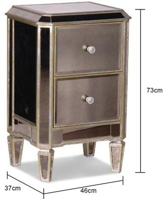 Two Drawer Antique Venetian Bedside Table image 2