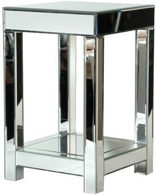Venetian Bedside Table in Mirrored Glass