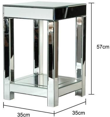 Venetian Bedside Table in Mirrored Glass image 2