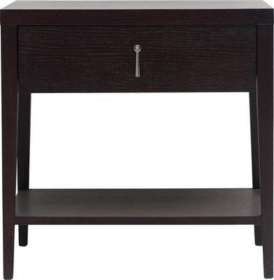 Sina Wenge Oak Bedside Table with Drawer image 2