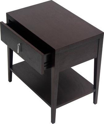 Sina Wenge Oak Bedside Table with Drawer image 4