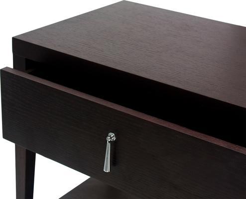 Sina Wenge Oak Bedside Table with Drawer image 5