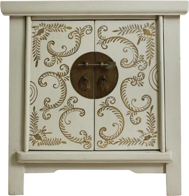 Bedside Ivory and Gold Cabinet