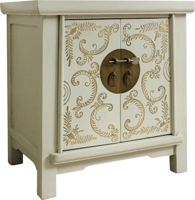 Bedside Ivory and Gold Cabinet image 2