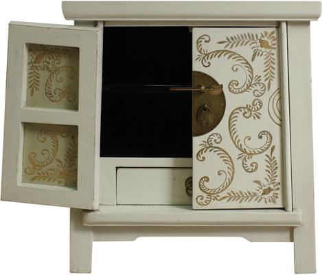 Bedside Ivory and Gold Cabinet image 3