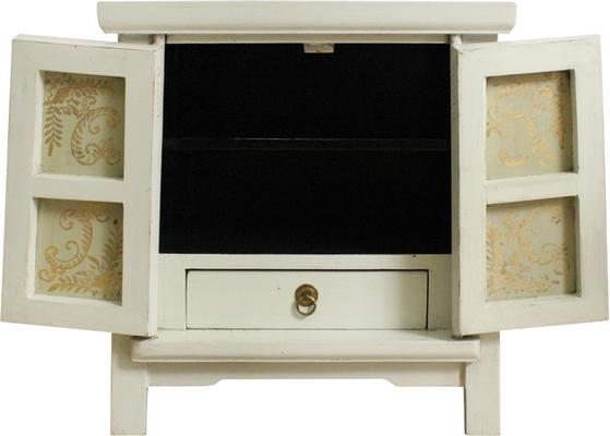 Bedside Ivory and Gold Cabinet image 4