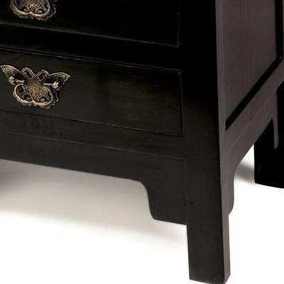 Butterfly Drawers, Black Lacquer image 3