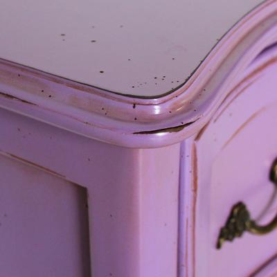 Wide French Bedside Table in Purple image 4
