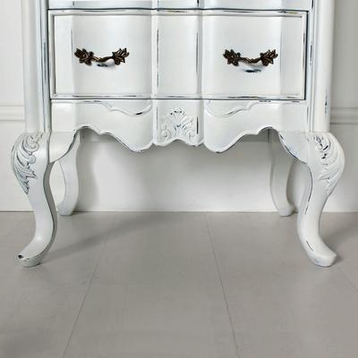 Ripple French-Style Bedside Table with Three Drawers image 4