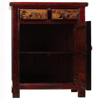 Red Lacquer Painted Side Cabinet image 4