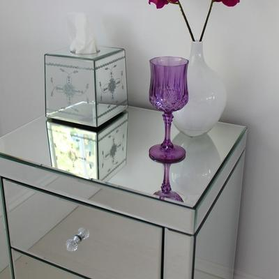 Mirrored Bedside Table image 4