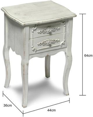 Small Distressed Bedside image 2