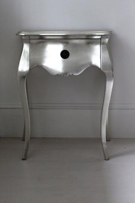Silver Curvy Bedside Table