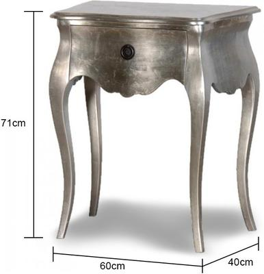 Silver Curvy Bedside Table image 2