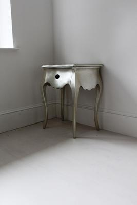 Silver Curvy Bedside Table image 3