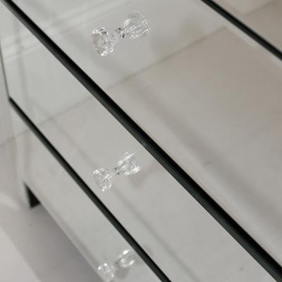 Wide Mirrored Glass Bedside Table image 5