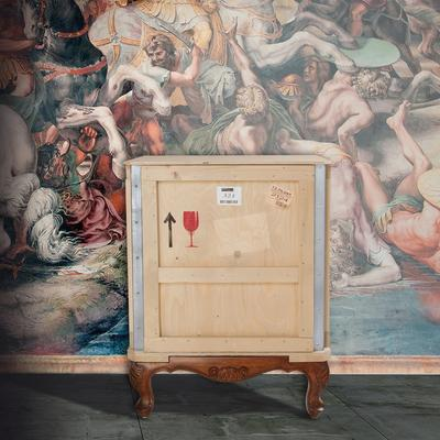 Seletti Packing Crate Bedside Table