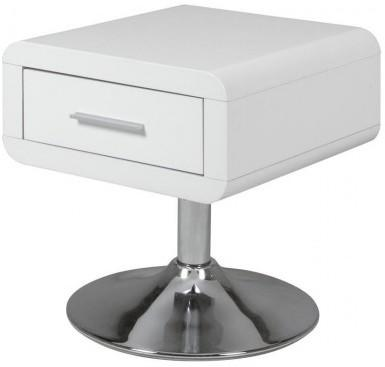 Comfor Modern Bedside Table 1 Drawer White Gloss