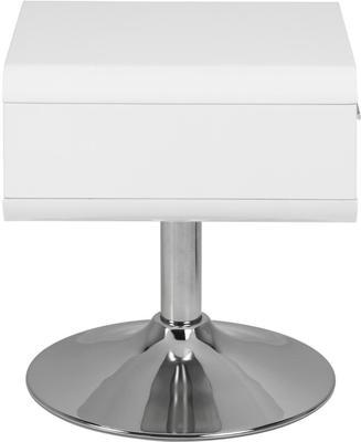 Comfor Modern Bedside Table 1 Drawer White Gloss image 6