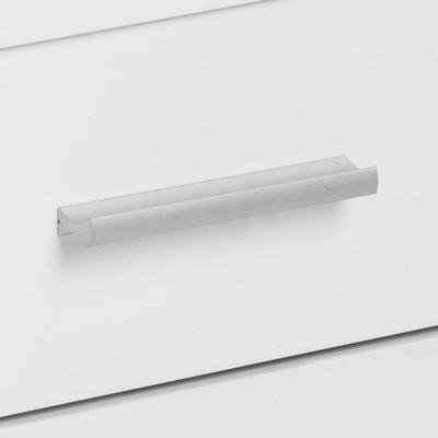 Comfor Modern Bedside Table 1 Drawer White Gloss image 7