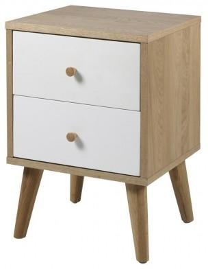 Oslo 2 drawer bedside table image 2