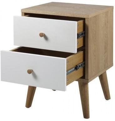 Oslo 2 drawer bedside table image 3