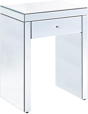 Mirrored One Drawer Bedside Table