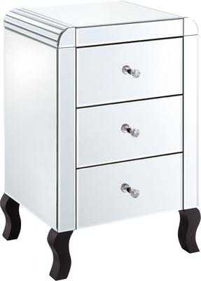 Bevel Edged Three Drawer Bedside