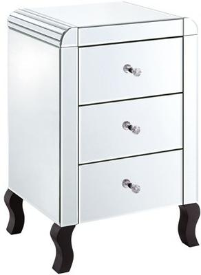 Bevel Edged Three Drawer Bedside image 2