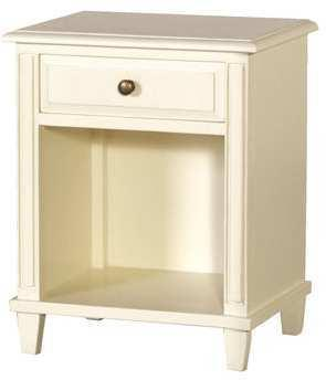 Classic Open Bedside Table Slightly Distressed