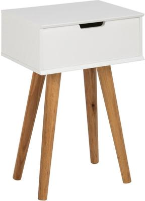 Mitra Bedside Table White Lacquer and Oak image 2