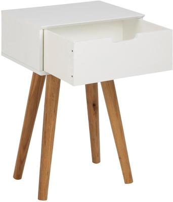 Mitra Bedside Table White Lacquer and Oak image 3