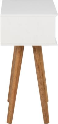 Mitra Bedside Table White Lacquer and Oak image 6