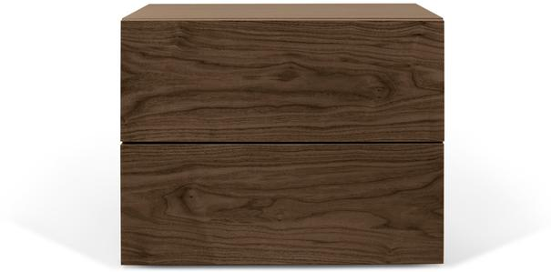 TemaHome Aurora Modern Bedside Table - Matt White or Walnut image 2