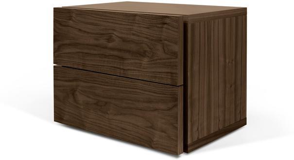 TemaHome Aurora Modern Bedside Table - Matt White or Walnut image 4