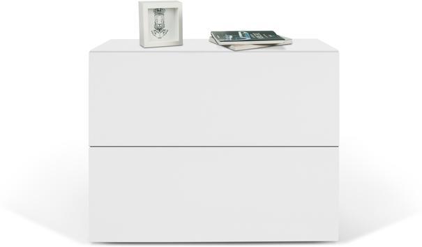 TemaHome Aurora Modern Bedside Table - Matt White or Walnut image 5