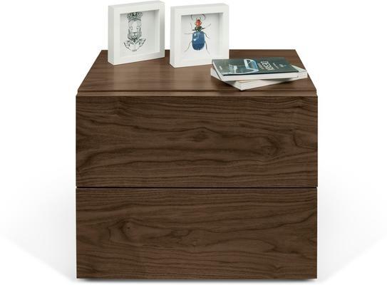 TemaHome Aurora Modern Bedside Table - Matt White or Walnut image 6
