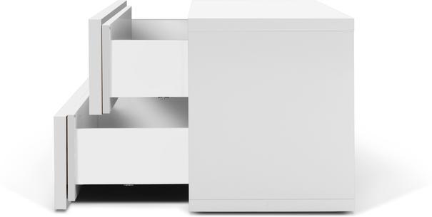 TemaHome Aurora Modern Bedside Table - Matt White or Walnut image 7