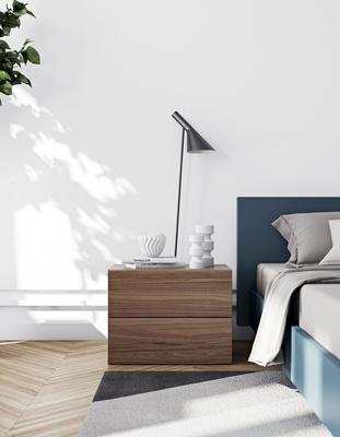 TemaHome Aurora Modern Bedside Table - Matt White or Walnut image 8