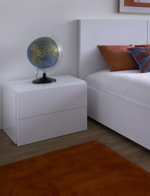 TemaHome Aurora Modern Bedside Table - Matt White or Walnut image 9
