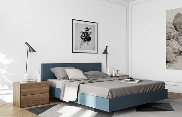 TemaHome Aurora Modern Bedside Table - Matt White or Walnut image 10