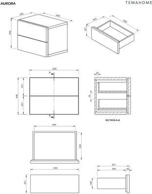 TemaHome Aurora Modern Bedside Table - Matt White or Walnut image 11
