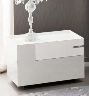 Diamond bedside table