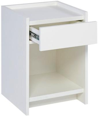 Essentials Bedside Table One Drawer - Matt White Lacquer image 2