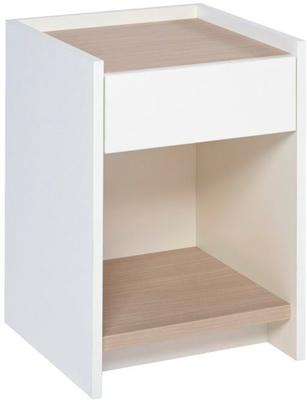 Essentials Bedside Table One Drawer - Matt White Lacquer image 3