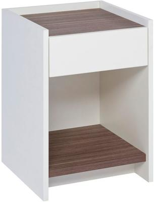 Essentials Bedside Table One Drawer - Matt White Lacquer image 4