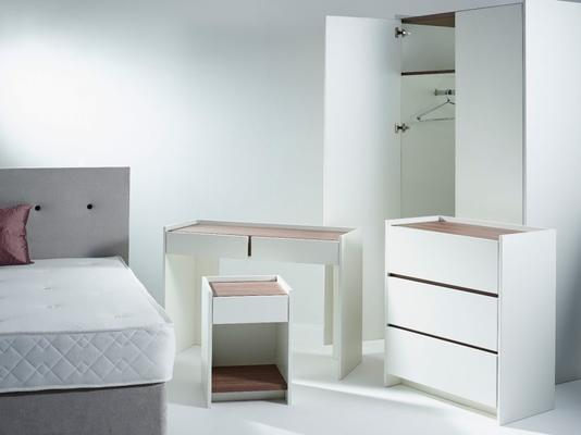 Essentials Bedside Table One Drawer - Matt White Lacquer image 5
