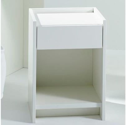 Essentials Bedside Table One Drawer - Matt White Lacquer image 6