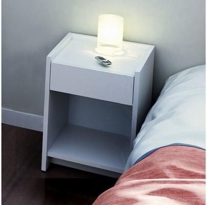 Essentials Bedside Table One Drawer - Matt White Lacquer image 7