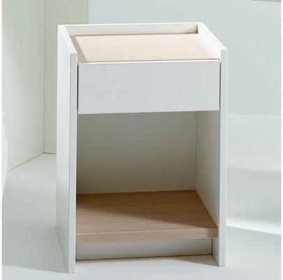 Essentials Bedside Table One Drawer - Matt White Lacquer image 8